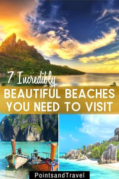 If you are looking for an incredible beach vacation, choose of of these 7 most beautiful beaches in the world. The most gorgeous beaches you will ever find! #beach #beachdestination  | Beautiful Beach | Bucket List Destinations | Most Beautiful Beach in the World | Gorgeous Beach |