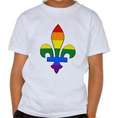 LGBT pride fleur-de-lis T-Shirt Tshirts