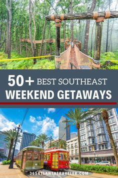There are a ton of great travel destinations along the southeast, and we have made a list of the best spots to create new memories. Whether you are looking for outdoor adventure or relaxation, this list is full of weekend escapes that are sure to please the whole family! Weekend Getaways With Kids, Family Weekend, South Carolina Vacation, World Travel Guide, Road Trip Usa, Cool Places To Visit, Travel Usa, Trip Planning, Travel Inspiration