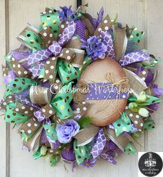 Easter wreath burlap Easter deco mesh by MrsChristmasWorkshop Wreath Crafts, Diy Wreath, Wreath Burlap, Wreath Making, Wreath Ideas, Christmas Mesh Wreaths, Easter Wreaths, Spring Wreaths, Easter Crafts
