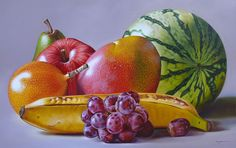 Artist of the month - painters. Inspiring artists show their work and share knowledge. Watercolor Fruit, Watercolor Sketch, Watercolor Paintings, Realistic Pencil Drawings, Realistic Paintings, Fruit Photography, Still Life Photography, Colour Pencil Shading, Fruits Drawing