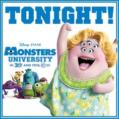 Who is ready for Monsters University??? Click the image to find showtimes near you.