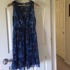 Converse One Star Blue and Black Sleeveless Dress Super cute and lightweight for summer, worn once. Converse Dresses