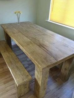 Planked Rustic Dining Table