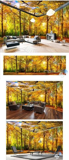 New wallpaper living room ideas forest mural Ideas