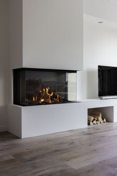 Home Design Living Room, Living Room Interior, Home Interior Design, Home And Living, Living Room Decor Fireplace, Home Fireplace, Fireplace Design, House Extension Design, Open Plan Kitchen Living Room