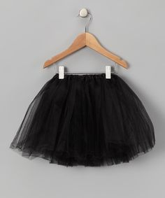 Take a look at the Black Tulle Tutu - Girls on #zulily today!