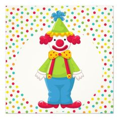 download clown birthday invitations ideas free printable