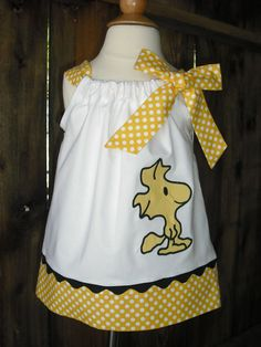 Sally Brown Pillowcase Dress by mycutebabystore1 on Etsy, $29.00