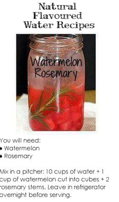 Natural Flavoured Water - Watermelon Rosemary