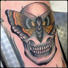 Butterfly Skull tattoo by @scottbankstattoo at Classic Ink in Kent U.K. #scottbankstattoo #scottbanks #classicink #kent #uk #unitedkingdom #butterflytattoo #skulltattoo #butterfly #skull #butterflyskull #tattoo #tattoos #tattoosnob