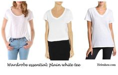 Wardrobe essentials: plain white tee