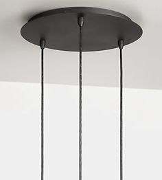 Triple Modern Ceiling Canopy - Canopy Round Ceiling Plate, Group of Three - Pendants - Lighting - Room & Board