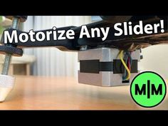Are your arms getting tired from pushing your camera back and forth across your camera slider? That must be the case with [Max Maker], which led him to convert his manual slider into a motorized on… Photography Sites, Photography Equipment, Digital Photography, Camera Rig, Camera Gear, Stop Motion Camera, Camera Slider, Good Introduction, Camera Equipment