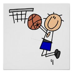 Shop Stick Figure Basketball Sink T-shirs and Gifts Poster created by sport_shop. Blind Drawing, Stick Figure Drawing, Maurice Careme, Nurses Week Quotes, History Of Drawing, Stick Figures, Drawing People, People Drawings, Custom Posters