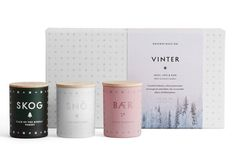 *New scented candles have arrived from Skandinavisk* This winter mini set is a perfect gift for a friend or loved one. It includes skog (forest) sno (snow) & baer (berry). The scent of crystal freshness, silent panoramas of evergreen and white, the irresistible allure of hibernation. ✨