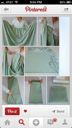 How to fold a fitted sheet Folding Fitted Sheets, Fold Bed Sheets, Clean Sheets, Ideas Prácticas, Flat Ideas, Decor Ideas, Ideas Para Organizar, Tips & Tricks, Home Hacks