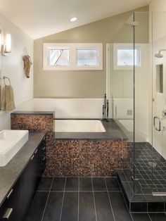 bathroom with slanted ceiling - Google Search
