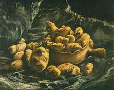 Still Life With An Earthern Bowl And Potatoes 1885 Vincent van Gogh
