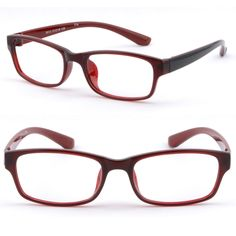 Rectangular Thick Womens TR90 Plastic Frame Prescription Sunglasses Red Burgundy #Unbranded Rx Sunglasses, Prescription Sunglasses, Eyeglasses For Women, Plastic, Red Burgundy, Detail, Frame, Ebay, Black