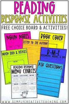 Reading Response Activities - Simply Creative Teaching