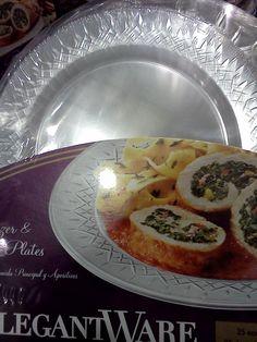 Elegant clear plastic plates 50 ct. Costco $10.59 & OCCASIONS