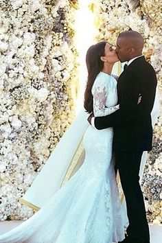 Iconic Wedding Dresses - Kim Kardashian (m. Kanye West in 2014)
