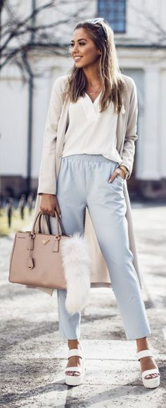 Pastel And Neutrals Spring Outfit by Kenzas