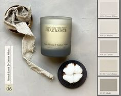 Raumduft 06 French Linen & Cotton White - Hollandstyle Cotton Linen, White Cotton, Colour Schemes, Scented Candles, Wax, The Past, Fragrance, French, Mood Boards
