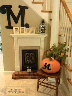 : Fall Around MY Home! Fireplace Fronts, Faux Fireplace, Build My Own House, Fall Halloween, My Dream Home, Sweet Home, New Homes, Diy Crafts, House Design