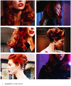 Abaddon/Queen of Hell Abaddon Supernatural, Supernatural Fandom, Supernatural Convention, Winchester Boys, Killer Queen, Stuff And Thangs, Super Natural, Her Hair, Hair And Nails