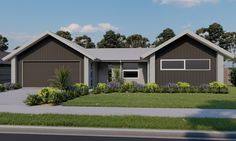 The Twizel Plan, part of the Pavilion Range at Generation Homes. #twizelplan #pavilionrange #4bedroomhouse #generationhomesnz 4 Bedroom House Plans, Pavilion, Minecraft, Shed, New Homes, Layout, Outdoor Structures, Range, How To Plan