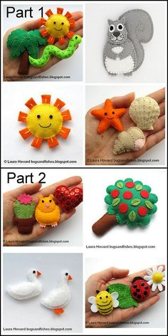DIY Felt Creatures Tutorials and Templates from Bugs and Fishes... - True Blue Me & You: DIYs for Creative People