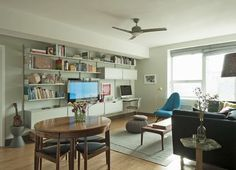 Small Space Solutions: Long Island City Multi-Purpose Living Room