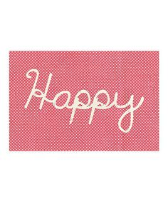 This 'Happy' Art Print is perfect! #zulilyfinds