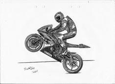 Yamaha by LandinDesign on DeviantArt Bike Tattoos, Motorcycle Tattoos, Motorcycle Art, Bike Art, Yamaha Logo, Yamaha R6, Yamaha Motorcycles, Bike Sketch, Car Sketch