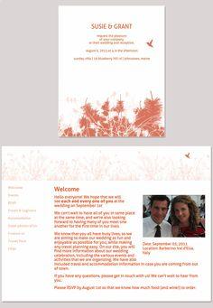 Hummingbird Wedding Website Design From GlositeCom Custom