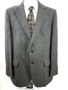 a2fa0a3fb82 Adams row Men s Sport Blazer Suit jacket Gray Size 44 L  fashion  clothing