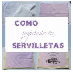 Como imprimir en servilletas - Una manera rápida y fácil