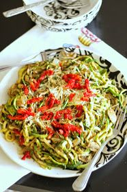 Brunch N' Cupcakes: {Zoodles with Pesto}