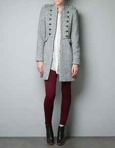 WOOL MILITARY COAT-I wish it was a chocolate-y brown :)