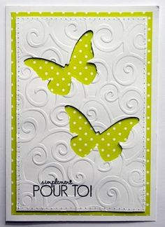Butterflies and embossing - simple and beautiful