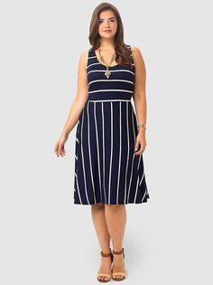 Catalina Stripe Tank Dress