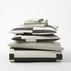 mix+match! Offset Stripe Layered Bed Set from west elm