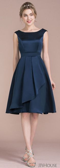 I love the color of this dress. I'm not so sure about the style of the top half. Might be too dressy for a August wedding.