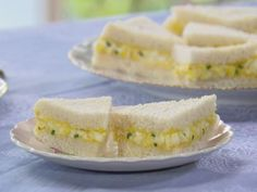Mini Egg Salad Sandwiches Recipe : Trisha Yearwood : Food Network