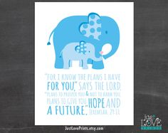 For I Know The Plans I Have For You Jeremiah by JustLovePrints