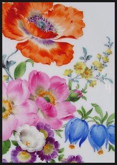 포셀린페인팅(포슬린페인팅) & 포셀린아트(포슬린아트) - Petra Kugelmeier 작가소개(Flower 3) : 네이버 블로그
