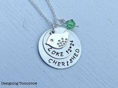 Luke 1224 Cherished Metal Stamped Necklace by DesigningTomorrow, $20.00