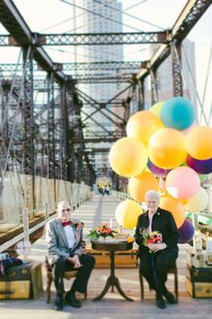 """You can't miss this adorable """"UP""""-themed anniversary that's as sweet as can be.  And you'll love the story behind the photo shoot: http://www.stylemepretty.com/2013/12/20/up-anniversary-shoot/"""